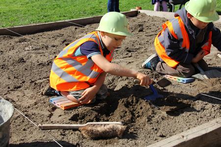 Bac à fouilles