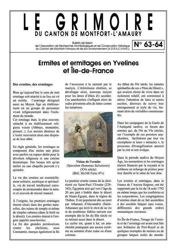 Ermites et Ermitages en Yvelines